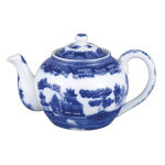 HIC Harold Import Co Blue Willow Porcelain 16 Ounce Teapot with Infuser