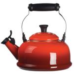 Le Creuset Cherry Enamel On Steel 1.75 Quart Whistling Tea Kettle