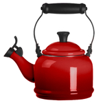 Le Creuset Cherry Enamel On Steel 1.25 Quart Demi Tea Kettle