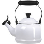 Le Creuset White Enamel On Steel 1.25 Quart Demi Tea Kettle