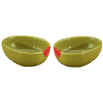 Home Gourmet Collection Ceramic Olive Vegetable Dipping Bowls, Set of 2