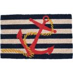 Entryways Anchor Hand Woven Coir Nautical Theme Doormat