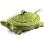Green Ceramic Turtle Soup Tureen
