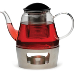 RSVP Glass Teapot and Stainless Steel Warmer
