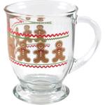 Anchor Hocking Holiday Gingerbread Men Cafe Mug, Set of 6