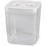 Click Clack Cube Food Storage Container with White Lid, 3.5 Quart