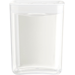 Click Clack Cube Food Storage Container with White Lid, 3 Quart