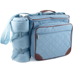 """Baby Boo"" Blue Deluxe Insulated Diaper Bag"