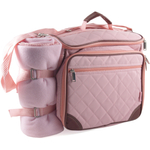 """Baby Boo"" Pink Deluxe Insulated Diaper Bag"