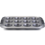 Anolon Advanced Bakeware Silver Nonstick Muffin and Cupcake Pan, 12 Cup