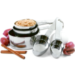 Norpro Stainless Steel Oval Measuring Cup, Set of 5