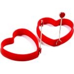 Norpro Red Silicone Heart Pancake Egg Ring, Set of 2