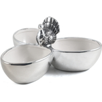 Boston Warehouse Harvest Dellarobbia 3 Section Serving Bowl Set