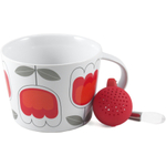 Sagaform Red and White Stoneware Tulip Tea Set