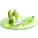 Sagaform Juicy Glass Cutting Board with Knife