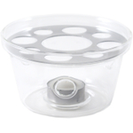 Borosilicate Glass Teapot Warmer with Resting Plate, 5 Inch