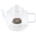 Geometric Glass Teapot, 26 Ounce