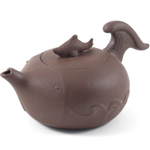 Brown Fish Decorative Yixing Teapot, 8 Ounce