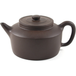 Brown Geometric Decorative Yixing Teapot, 11 Ounce