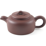 Red Wide-Bottom Yixing Teapot, 9 Ounce