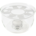 Borosilicate Glass Teapot Warmer with Resting Plate, 4 Inch
