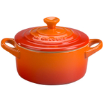 Le Creuset Flame Enameled Stoneware 8 Ounce Mini Round Cocotte