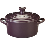 Le Creuset Cassis Enameled Stoneware 8 Ounce Mini Round Cocotte