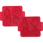 Nordic Ware Red Reversible Holiday Cookie Cutter Plaque