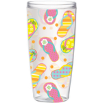 Boston Warehouse Sunshine Sandals 24 Oz. Insulated Tumbler, Set of 4