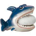 Boston Warehouse Earthenware Shark Scrubby Holder