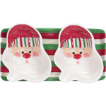 Boston Warehouse Candy Claus 3 Piece Serving Set