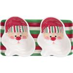Boston Warehouse Candy Claus 3 Piece Serving Set