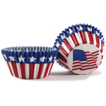 Cupcake Creations Stars and Stripes Baking Cup, Set of 32