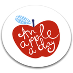 Joseph Joseph Apple Worktop Saver Round Glass Cutting Board, 12 Inch