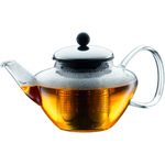 Bodum Classic Glass Tea Press with Stainless Steel Filter and Lid, 20 Ounce
