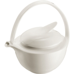 Bodum Eclia White Bone China Tea Pot with Stainless Steel Filter, 34 Ounce