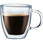 Bodum Bistro Double-Walled Transparent 10 Ounce Mug, Set of 2
