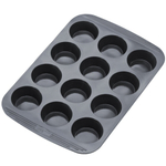 The Chef's Toolbox Gray Silicone 12 Cup Muffin Pan