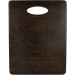 Architec Black Bamboo Formaldehyde Free Organic Endgrain Chopping Block with Handle