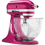 KitchenAid Artisan Series Raspberry Ice 5 Quart Tilt Head Stand Mixer with Glass Bowl