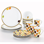Rachael Ray 16 Piece Little Hoot Dinnerware Set, Service for 4