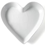 Omniware White Porcelain Heart Dish, 9.5 Inch