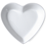 Omniware White Porcelain Heart Dish, 5.5 Inch