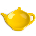 Omniware Yellow Ceramic Tea Caddy and Infuser Holder