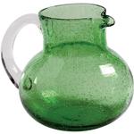 Artland Iris Green Seeded Glass Pitcher, 90 Ounce