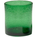 Artland Iris Green Seeded Double Old Fashioned Glass