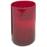 Artland Iris Ruby Seeded Glass 17 Ounce Highball Tumbler