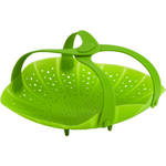 Trudeau Green Silicone Vegetable Steamer with Handles