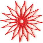 Spice Ratchet Red Silicone Blossom Trivet