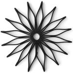 Spice Ratchet Black Silicone Blossom Trivet